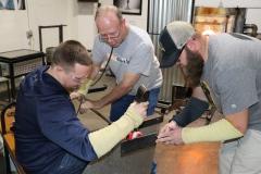 Veterans of Scott Community College Admissions Wall Installation